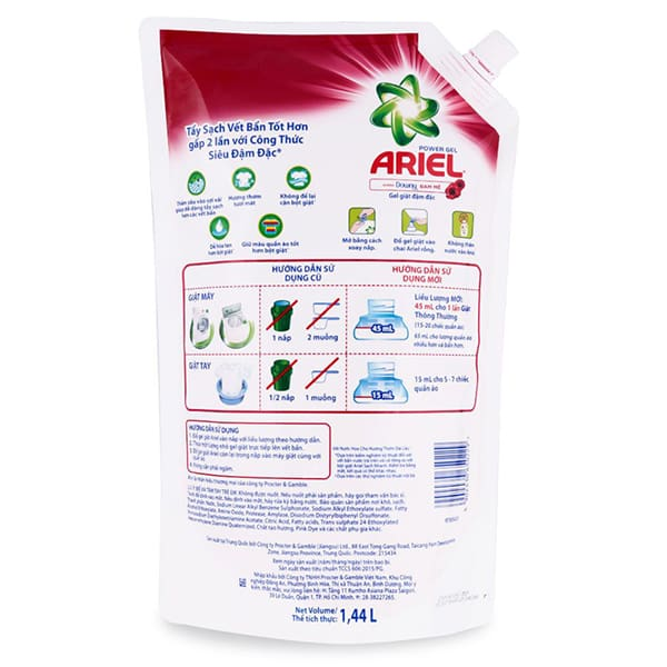 Ariel liquid laundry detergent: Packing with Pallet, 1 44L Bag