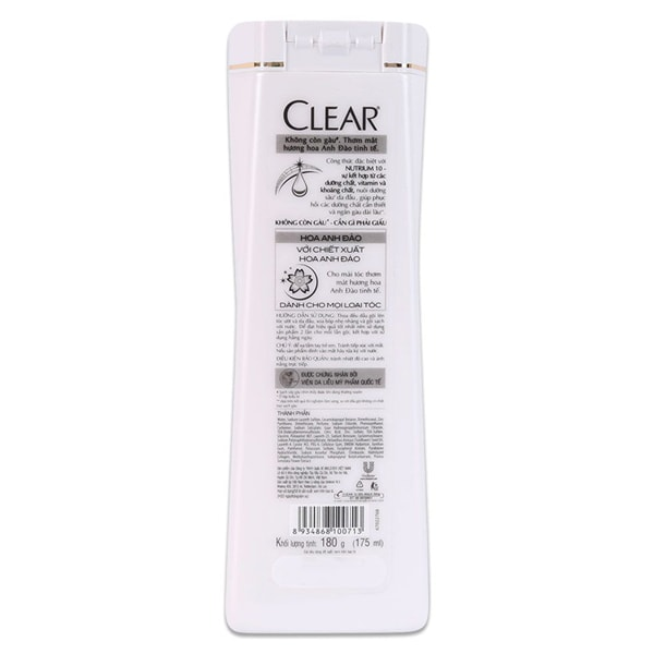 clear shampoo big bottle