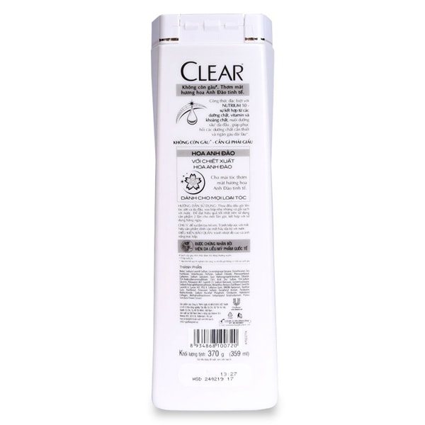clear shampoo blue