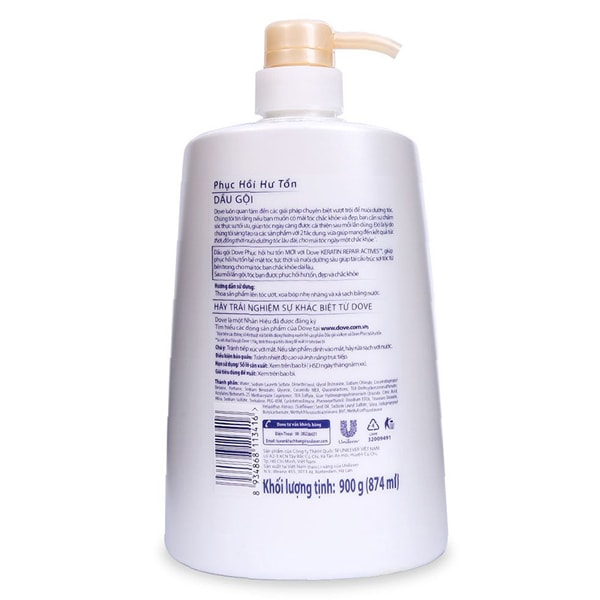 dove intense repair shampoo sachet