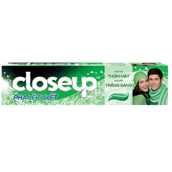 close up toothpaste travel size