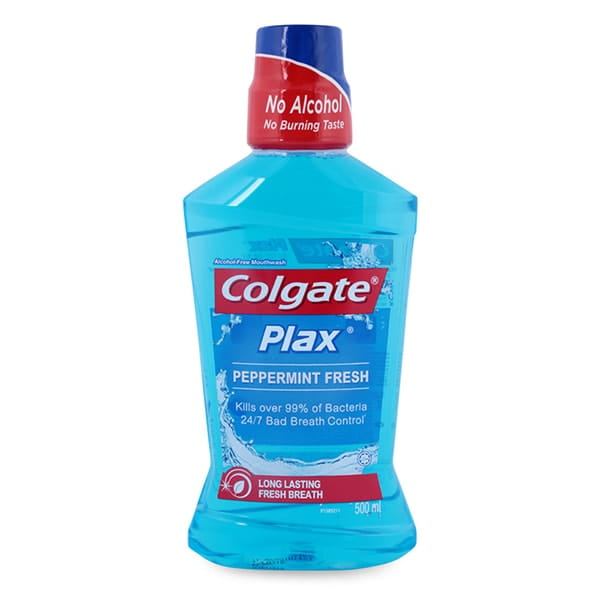 how to use colgate plax fresh tea