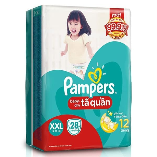 pampers baby dry blue dye