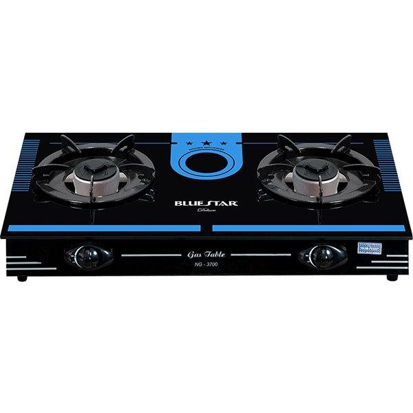 double oven gas cookers white
