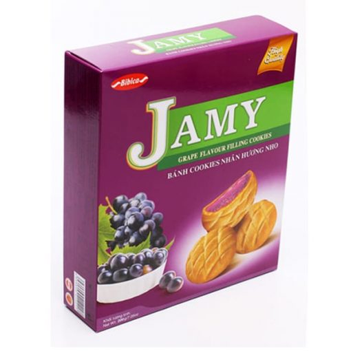 Jamy Grape Filling Cookies vietnam wholesale