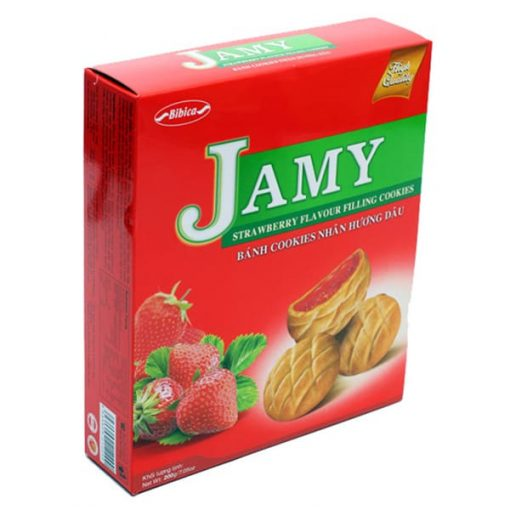 Jamy Strawberry Filling Cookies vietnam wholesale