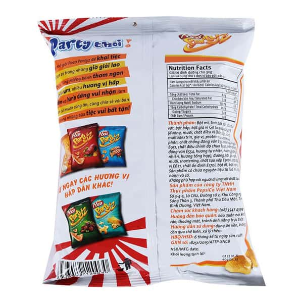 Poca Chicken Snack vietnam wholesale: Latest Manufactured Date