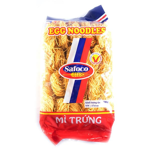 Safoco Thin String Egg Noodles: Packing with Pallet, 75G Bag