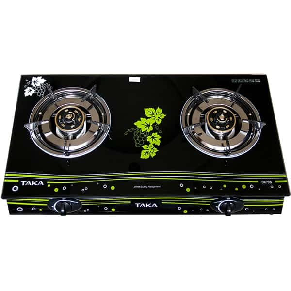 double gas cooker with lid