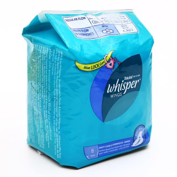 whisper pads india