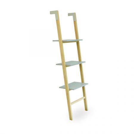Low wooden shelf