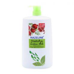 Hazeline Shower Gel Lightening Skin Matcha + Pomegranate 1.2Kg