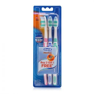 Oral-B Toothbrush Classic Ultra Clean Pack 3'S