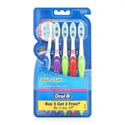 Oral-B Toothbrush Dual Clean Pack 5'S