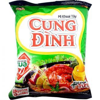 Cung Dinh Hot & Sour Prawn Instant Noodles 80G