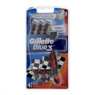 Gillette Blue 3 Disposable Razor Pack 4'S