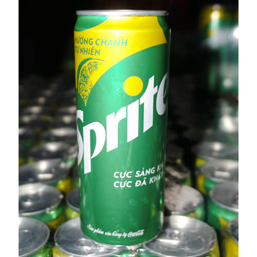 Sprite soft drink 330ml can