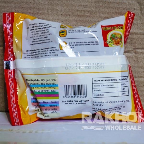 Ingredient of Bich Chi Banh Da Cua Crab Rice Pancake 60g