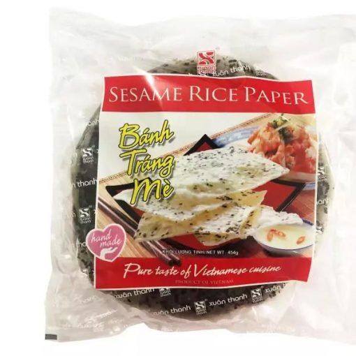 Xuan Thanh Banh Trang Me Black Sesame Rice Paper 454g